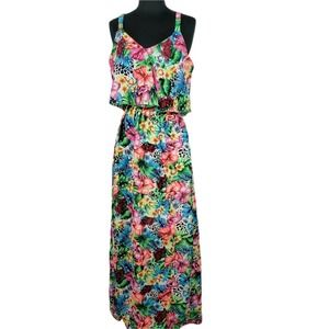 New Glory Maxi Dress Florescent Floral Ruffle